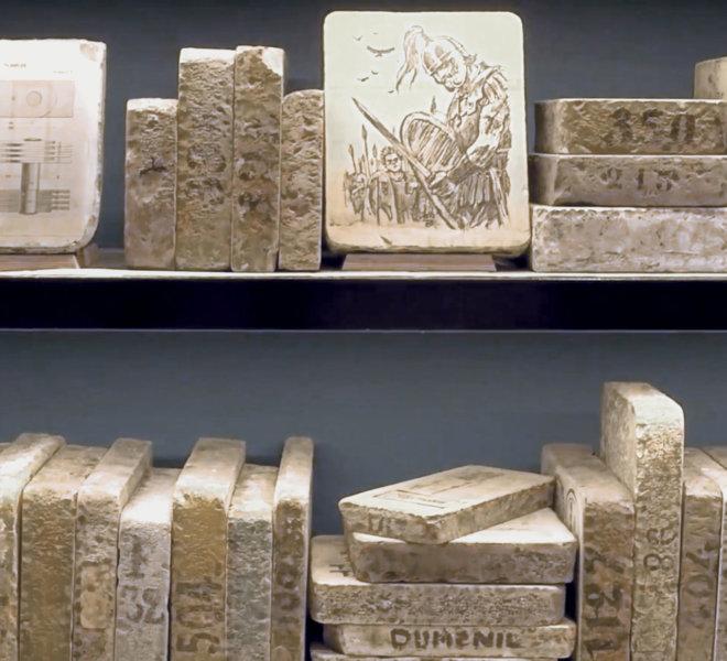 Lithographie : Le hasard fait bien les choses - AMI - Atelier Musée de l'Imprimerie - Malesherbes France