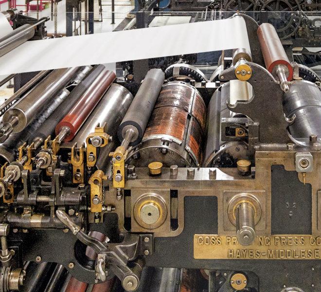Presses à imprimer : Le temps de l'industrialisation - AMI - Atelier Musée de l'Imprimerie - Malesherbes
