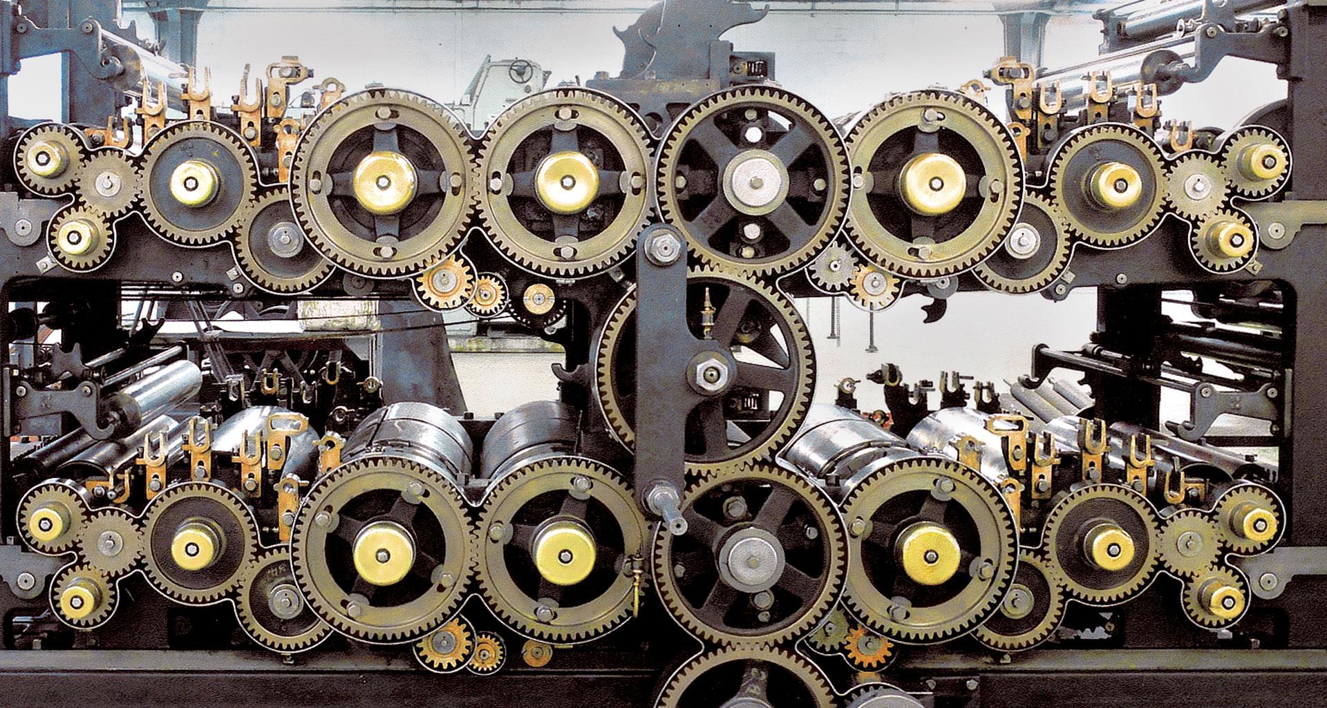 Presse à Imprimer - Machine en fonctionnement - AMI - Atelier Musée de l'Imprimerie - Malesherbes