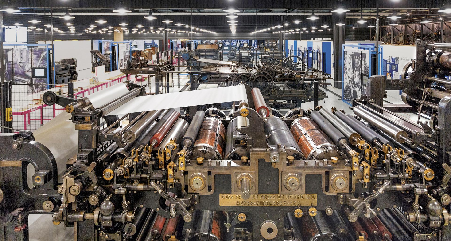 Vue des machines - AMI - Atelier Musée de l'Imprimerie - Malesherbes France